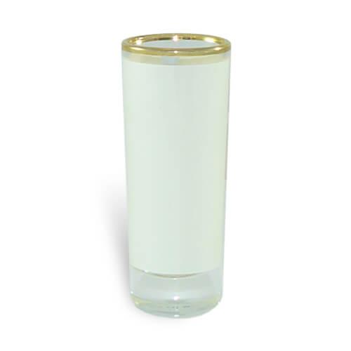 90 ml-es üvegpohár arany csíkkal szublimáláshoz, préseléshez