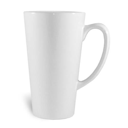 Nagy latte bögre, A+, fehér, szublimáláshoz, préseléshez