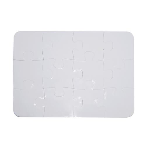 13 x 9,5 cm-es, 12 darabos műanyag puzzle szublimáláshoz, préseléshez