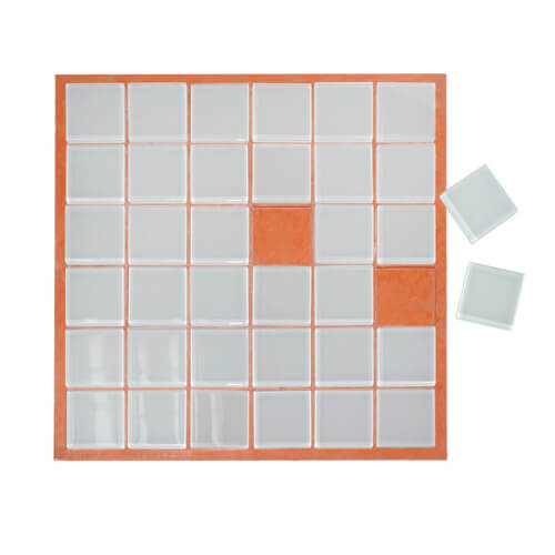 30 x 30 cm-es üveg mozaik - 36 darabos, szublimáláshoz, préseléshez