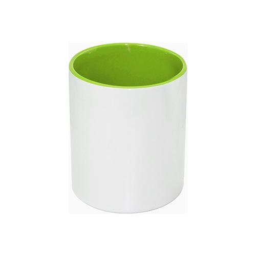 Szublimálható kerámia tolltartó, világos zöld belsővel