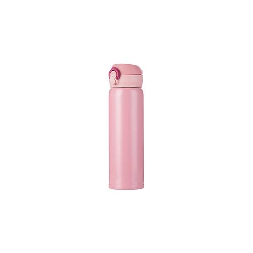 Szublimálható 500 ml rozsdamentes acél termosz - rózsaszín