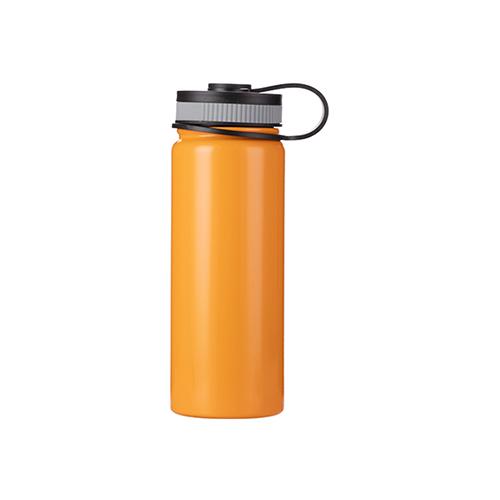 Szublimálható 550 ml rozsdamentes acél termosz - narancssárga