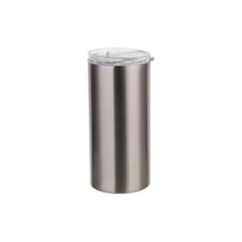 Szublimálható termosz bögre 480 ml szívószállal - ezüst