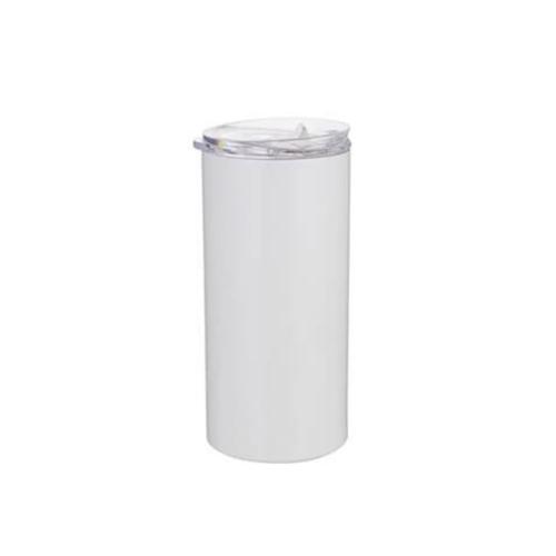 Szublimálható termosz bögre 480 ml szívószállal - fehér