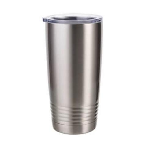 Szublimálható termosz bögre 600 ml Gyűrűs nyakú - ezüst