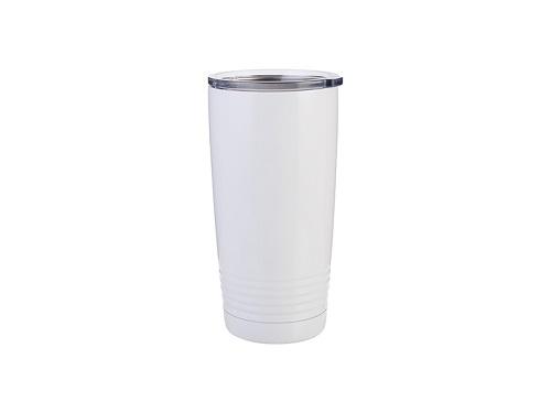 Szublimálható termosz bögre 600 ml Gyűrűs nyakú - fehér
