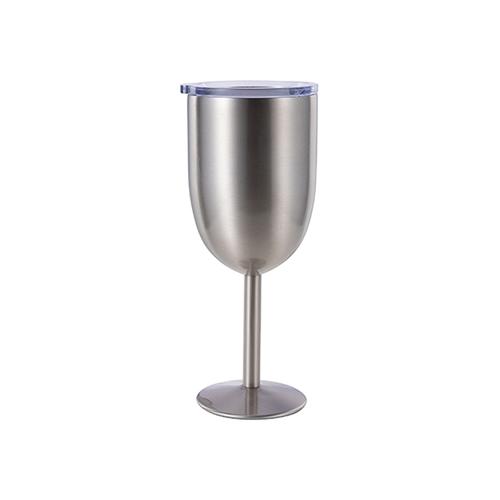 Szublimálható rozsdamentes acél borosüveg pohár - ezüst