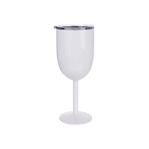 Szublimálható rozsdamentes acél borosüveg pohár - fehér