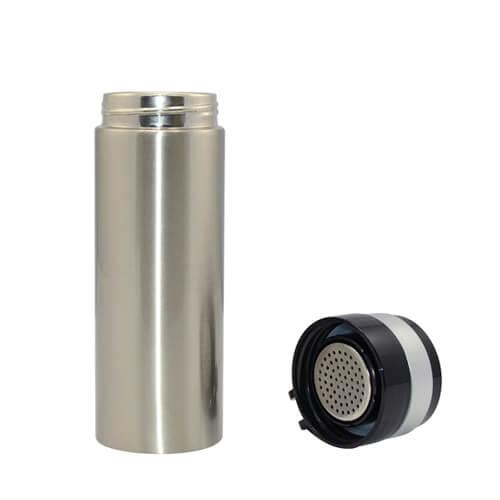 320 ml-es ezüst fémtermosz szublimáláshoz, préseléshez