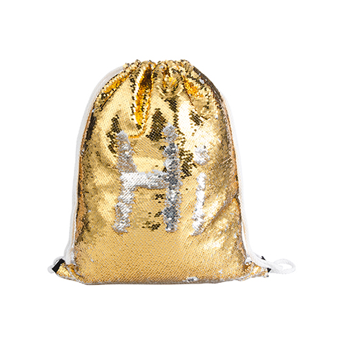 Szublimálható 36 x 45 cm hátizsák flitterrel - arany
