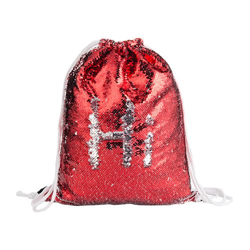 Szublimálható 36 x 45 cm hátizsák flitterrel - piros