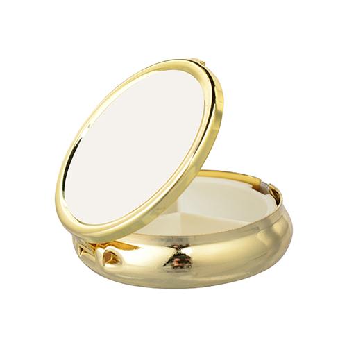 Kerek gyógyszeradagoló arany doboz szublimáláshoz, préseléshez