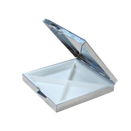 Szögletes gyógyszeradagoló doboz szublimáláshoz, préseléshez