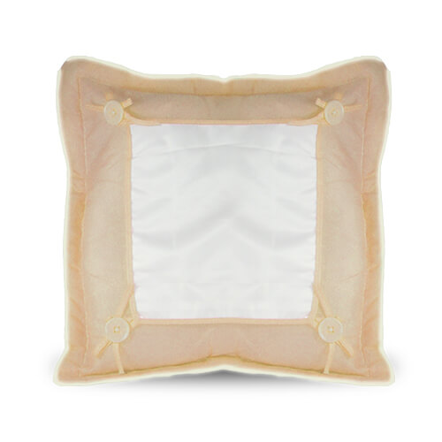 40 x 40 cm-es világosbarna prémium minőségű párnahuzat szublimáláshoz, préseléshez