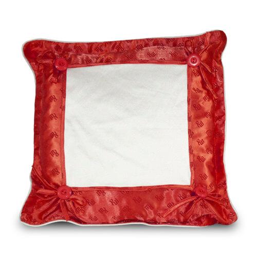 40 x 40 cm-es piros prémium minőségű párnahuzat szublimáláshoz, préseléshez