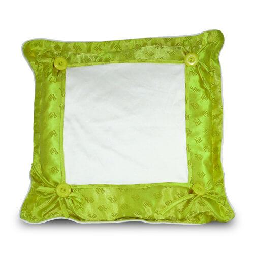 40 x 40 cm-es világoszöld prémium minőségű párnahuzat szublimáláshoz, préseléshez