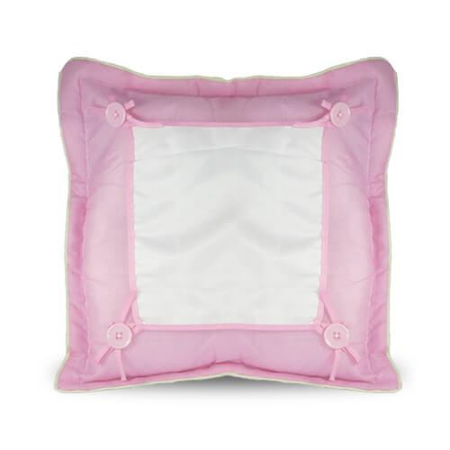 40 x 40 cm-es rózsaszín prémium minőségű párnahuzat szublimáláshoz, préseléshez