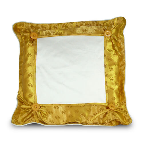 40 x 40 cm-es arany színű prémium minőségű párnahuzat szublimáláshoz, préseléshez