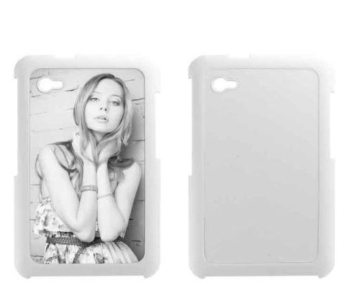 Samsung Galaxy Tab P6200 fehér műanyag tok szublimáláshoz, préseléshez