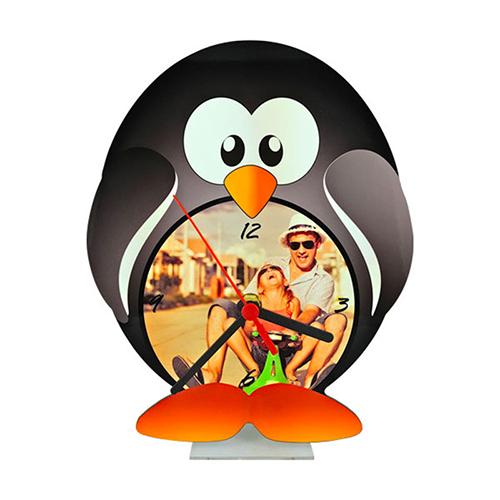 Szublimálható álló MDF óra - Pingvin