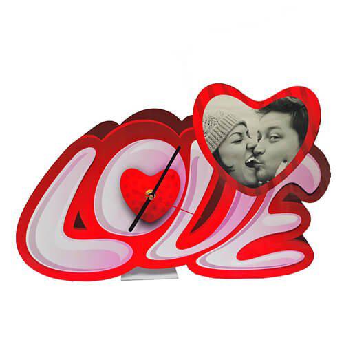 Szublimálható álló MDF óra - Jelly Love