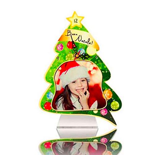 Szublimálható álló MDF óra - Karácsonyfa