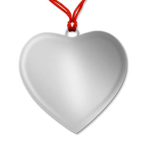 Szív alakú medál szublimáláshoz, préseléshez