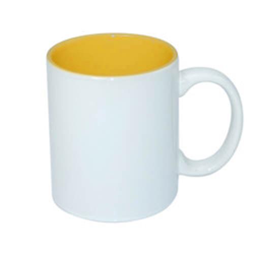 330 ml-es ECO bögre arany sárga belső résszel, szublimáláshoz, préseléshez