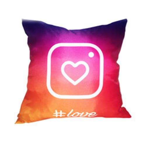 Szublimálható 38 x 38 cm profilkép szatén párnahuzat - Instagram