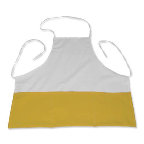 Fényképes konyhai kötény, sárga, szublimáláshoz, préseléshez