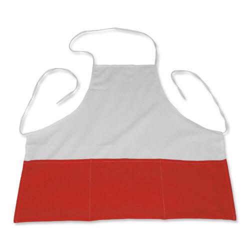 Fényképes konyhai kötény, piros, szublimáláshoz, préseléshez
