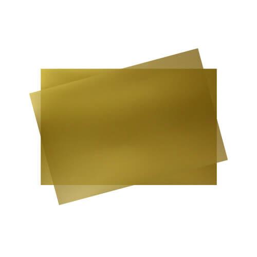 Egy csomag (50 lap) arany színű kristály fólia, A4, JP12A