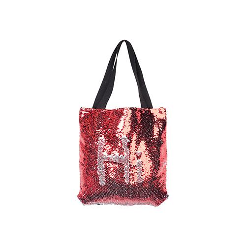 Szublimálható 35 x 38 cm-es táska piros flitterrel