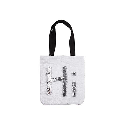 Szublimálható 35 x 38 cm-es táska fehér flitterrel