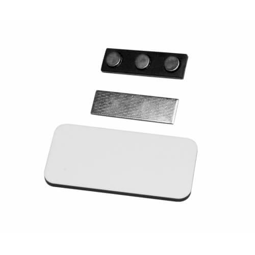 7,6 x 3,8 cm-es szögletes MDF fényképes névkártya szublimáláshoz, préseléshez