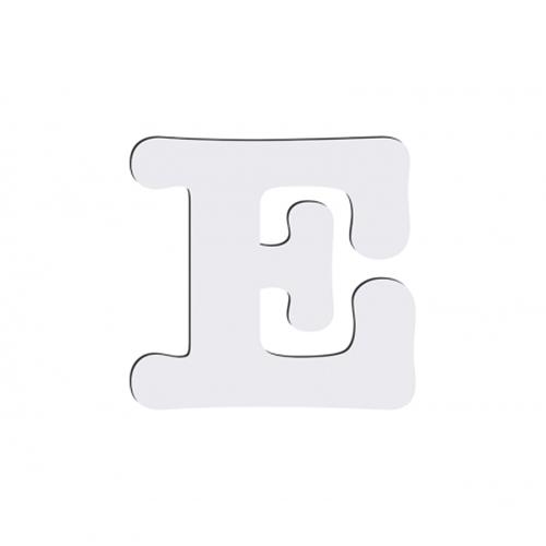 Szublimálható dekoratív MDF betű - 10 cm E