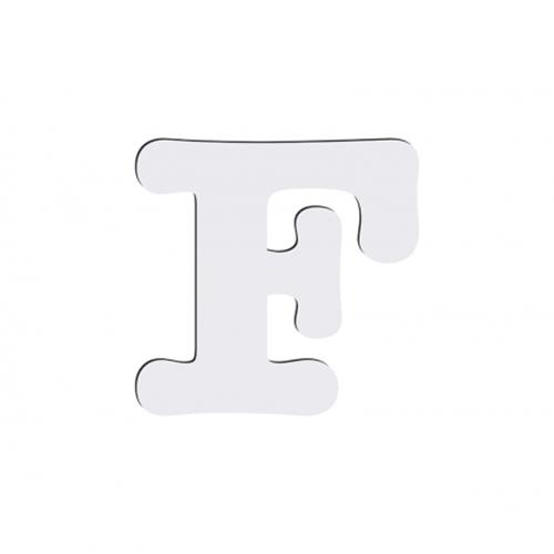 Szublimálható dekoratív MDF betű - 10 cm F