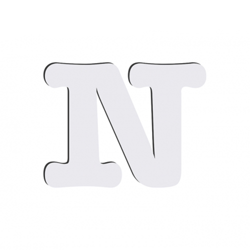 Szublimálható dekoratív MDF betű - 10 cm N