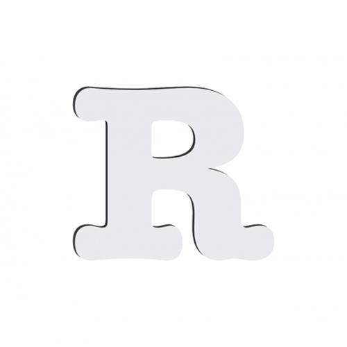 Szublimálható dekoratív MDF betű - 10 cm R
