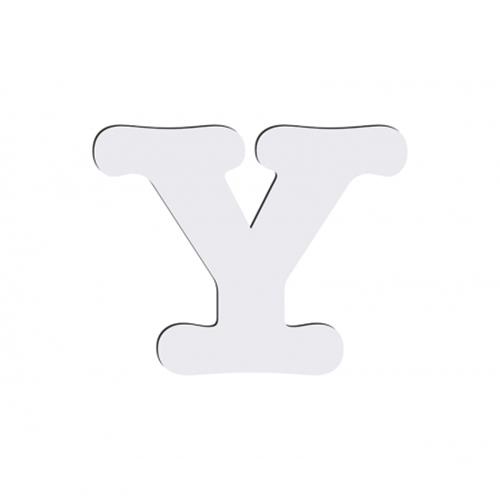 Szublimálható dekoratív MDF betű - 10 cm Y