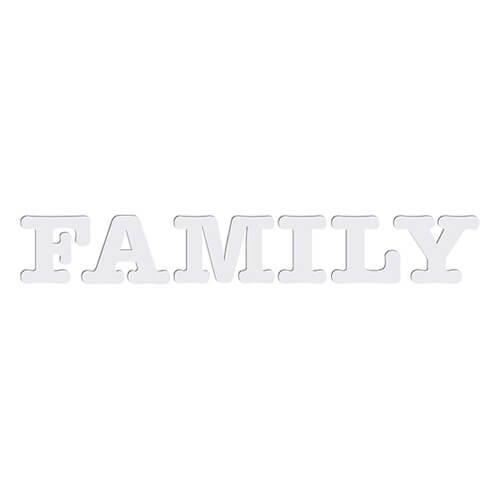 Dekoratív MDF betűk - FAMILY - szublimáláshoz, préseléshez