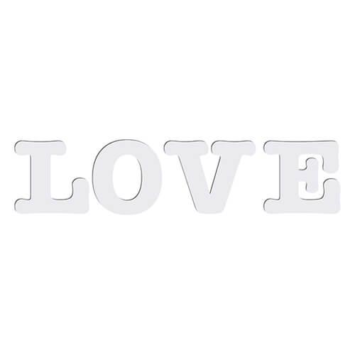 Dekoratív MDF betűk - LOVE - szublimáláshoz, préseléshez