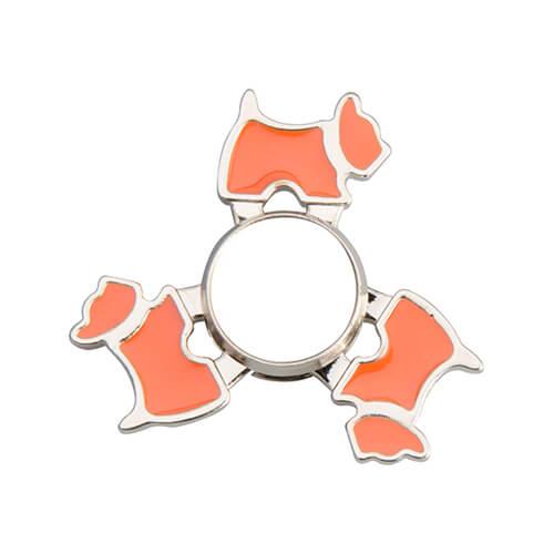 Fém spinner szublimáláshoz - kutya alakú - narancssárga