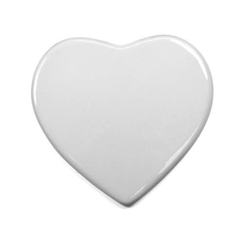 10 cm-es szív alakú kerámia lap szublimáláshoz, préseléshez