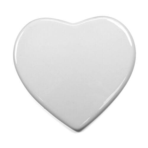 15 cm-es szív alakú kerámia lap szublimáláshoz, préseléshez