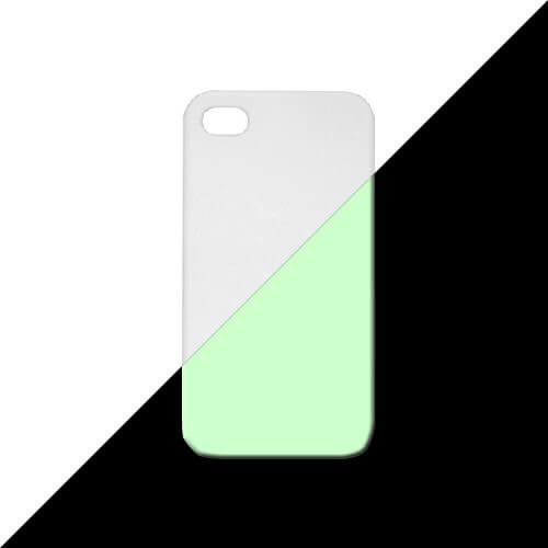 iPhone 4 3D matt fehér fluoreszkáló tok szublimáláshoz, préseléshez