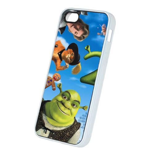 iPhone 5/5S fehér gumi tok szublimáláshoz, préseléshez