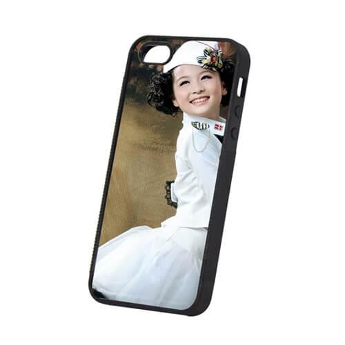 iPhone 5/5S fekete gumi tok szublimáláshoz, préseléshez