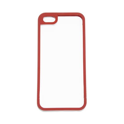 iPhone 5/5S piros műanyag keret szublimáláshoz, préseléshez